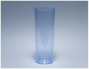 Longdrinkglas 3dl blau PS glasklar (100 Stück)