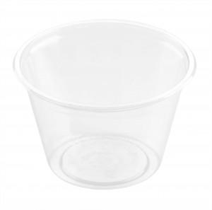ecoecho® Dressingbecher 120 ml Transparent ungeteilt, rPET (2400Stk.)