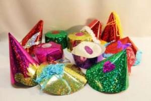 Hologramm Party Hüte 100 Stück
