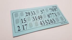 Lottokarten plastifiziert