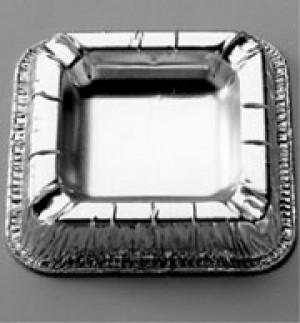 Aschenbecher silber 12,5x12,5cm (100 Stück)