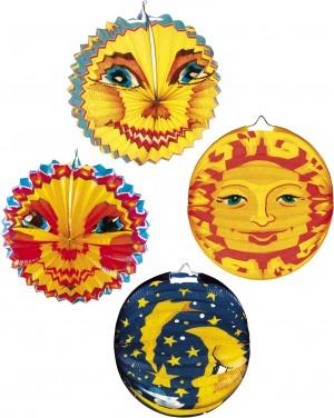 Lampion Mond, Sonne