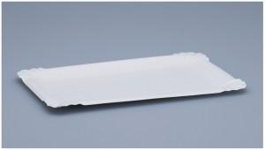 Wurstteller aus Karton 13 x 20 cm   (250 Stück)