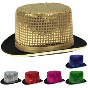 Zylinder Hut mit Pailetten frbl. sort.
