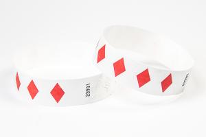 Tyvek Kontrollbänder Diamant rot