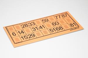 Lottokarten 14,5 x 7,2cm - plastifiziert