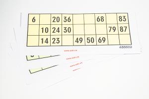 Lottokarten aus Papier  100 Stück