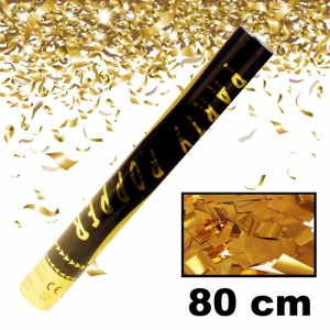 Party Shooter 80cm - Konfetti - metallic gold