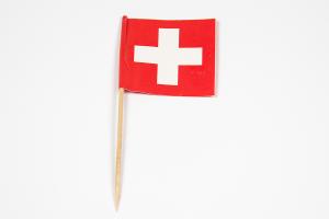 Zahnstocherfähnchen Schweiz 4x4 cm