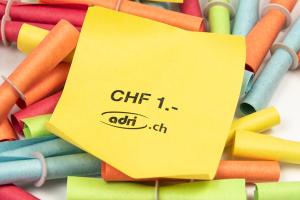 Röllchenlose Werteindruck: Wert CHF 1.-