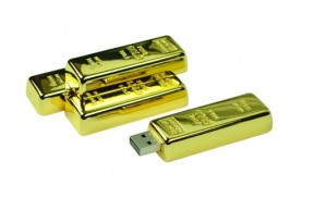 USB Stick (16GB) Goldbarren
