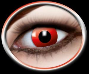Kontaktlinsen roter Teufel