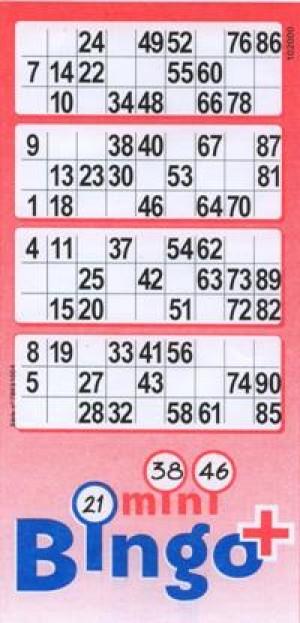 Lottokarten aus Papier 1000 Blatt