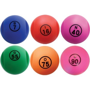 6 Lottokugeln magnetisch inkl. 100 Jetons in verschiedenen Farben