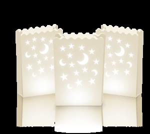 Lichttüte Mond&Stern 10 Stück