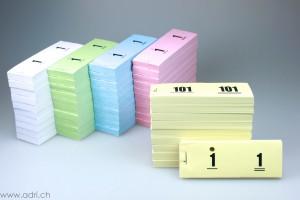 Garderobennummern-Block gelocht Nr. 1-1000
