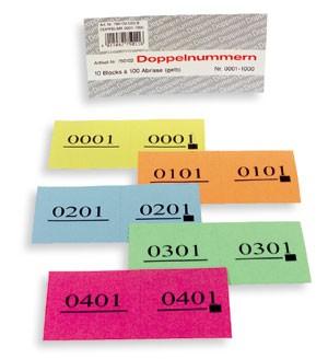 Doppel-Nummern-Block Nr. 1-500