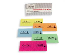 Doppel-Nummern-Block  Nr. 1-6'000