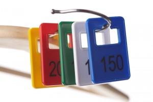 Garderobenmarken Kunststoff 1-200