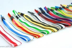2-farbige Stoffbänder neutral mit Schiebeverschluss