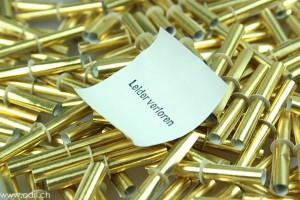 Röllchenlose ganz in gold, Nieten Beutel zu 500 Stk