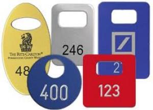 Garderobenmarken aus Aluminium