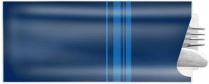 Besteckbeutel mit Serviette, blau (1.000 Stück)