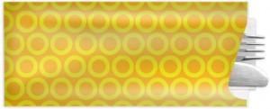 Besteckbeutel mit Serviette, gelb (1.000 Stück)
