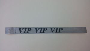 Tyvek Kontrollbänder VIP silber