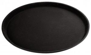 Serviertablett schwarz, rund 28cm, Kunststoff