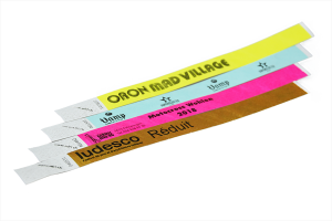 Bedruckte Tyvek Kontrollbänder 1-farbig