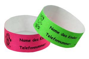 Tyvek Kontrollbänder für Kinder