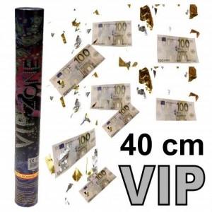 Konfettikanone 40cm VIP Geldscheine