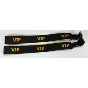 Stoffbänder VIP schwarz (20 Stk.)