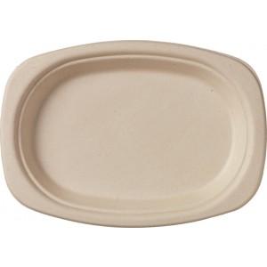 Duni Teller oval, braun (500 Stück)