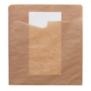 Duni Snack Sacchetto mit weisser 2-lg. Serviette gross (300 Stück)