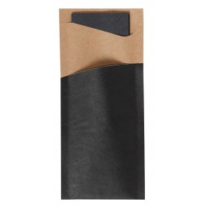 Duni Sacchetto Zelltuch (black/brown)