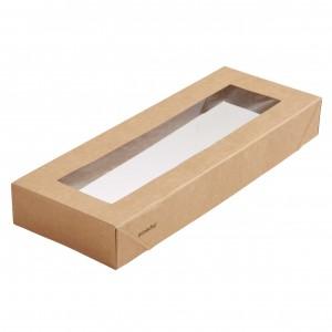 Duni ecoecho® Viking Slim Brick Deckel mit Fenster (300 Stück)