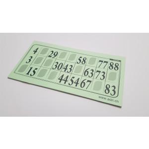 1000 Lottokarten grün 14,5 x 7,2cm - plastifiziert **AKTION**