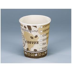 Trinkbecher coffee togo 2 dl aus Karton  75er Beutel