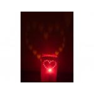Lichttüte Herz rot 5 Stück