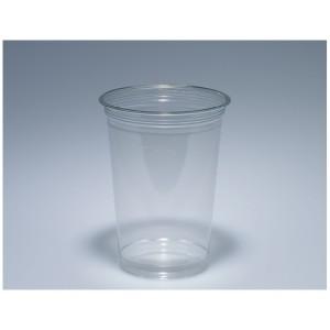 Trinkbecher 4 dl glasklar PET mit Schaumrand (100 Stück)