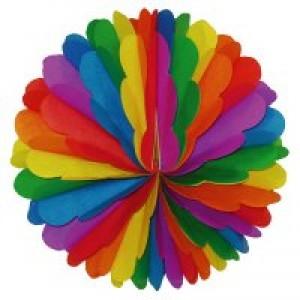 Wabenbälle Regenbogenfarben ø 28 cm