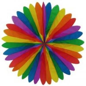 Wandfächer Regenbogenfarben ø 50 cm