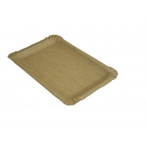 Wurstteller  braun, 13 x 20 cm Kraftpapier mit Fettbarriere (1'500 Stück)