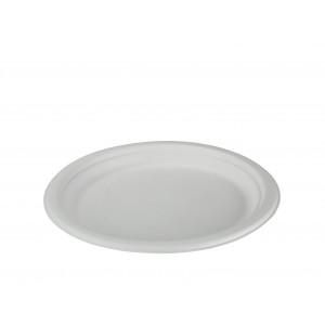 Teller weiss, 23 cm Bagasse rund (800 Stück)