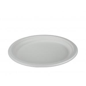 Teller weiss,Ø 26,1 cm Bagasse rund (800 Stück)