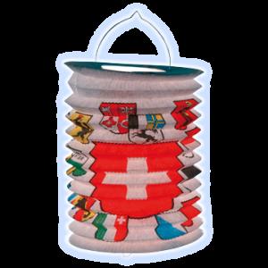 Zuglampions Schweizerkreuz und allen Kantonswappen