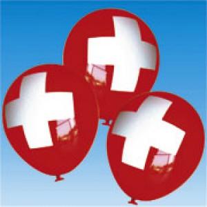 Ballone mit Schweizerkreuz