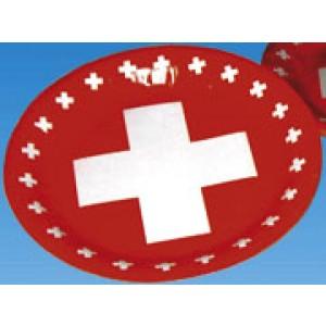 Partyteller mit Schweizerkreuz (8 Stück)